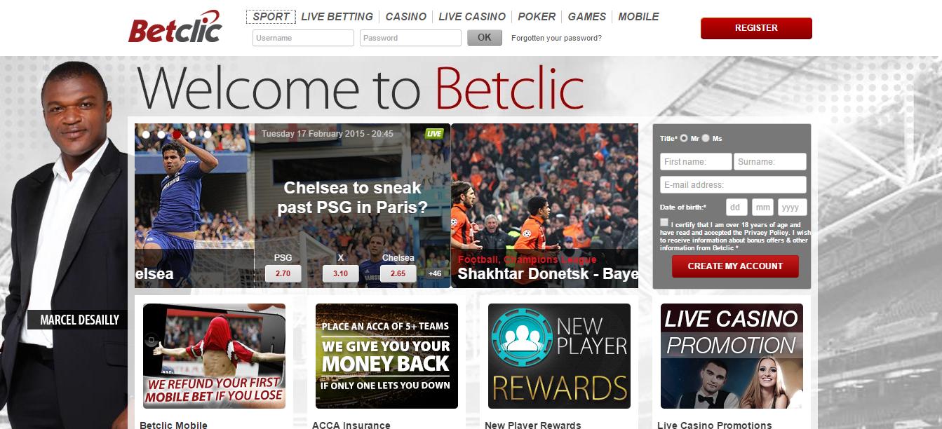 БК Betclic. Внешний вид сайта