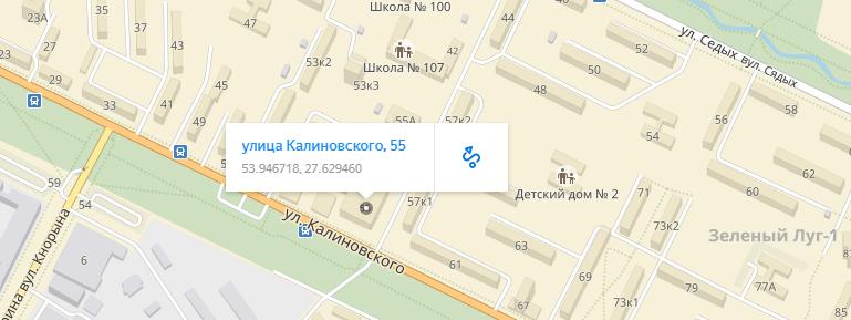 1xbet в Беларуси. Адреса ППС на карте