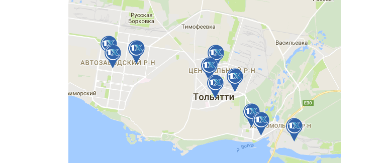 1xbet. Тольятти - адреса на карте