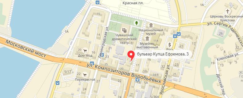 1xbet в Чебоксарах на карте
