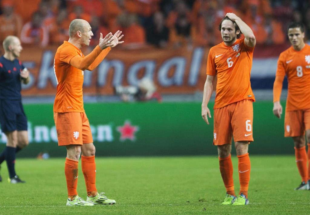 Арьен Роббен и Блинд сборная Голландии