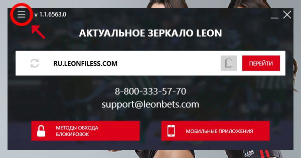 Программа для ПК Leon