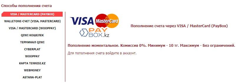 Платежные системы БК теннеси
