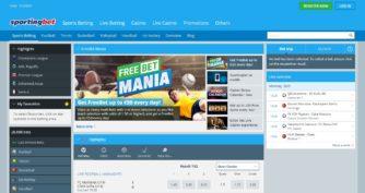 Sportingbet - главная страница