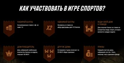 Игра спортов с призовым фондом 600000 рублей от Париматч