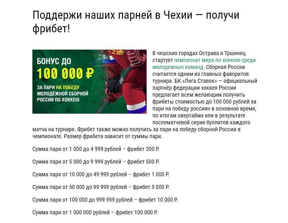 """Розыгрыш фрибетов от БК """"Лига Ставок"""""""